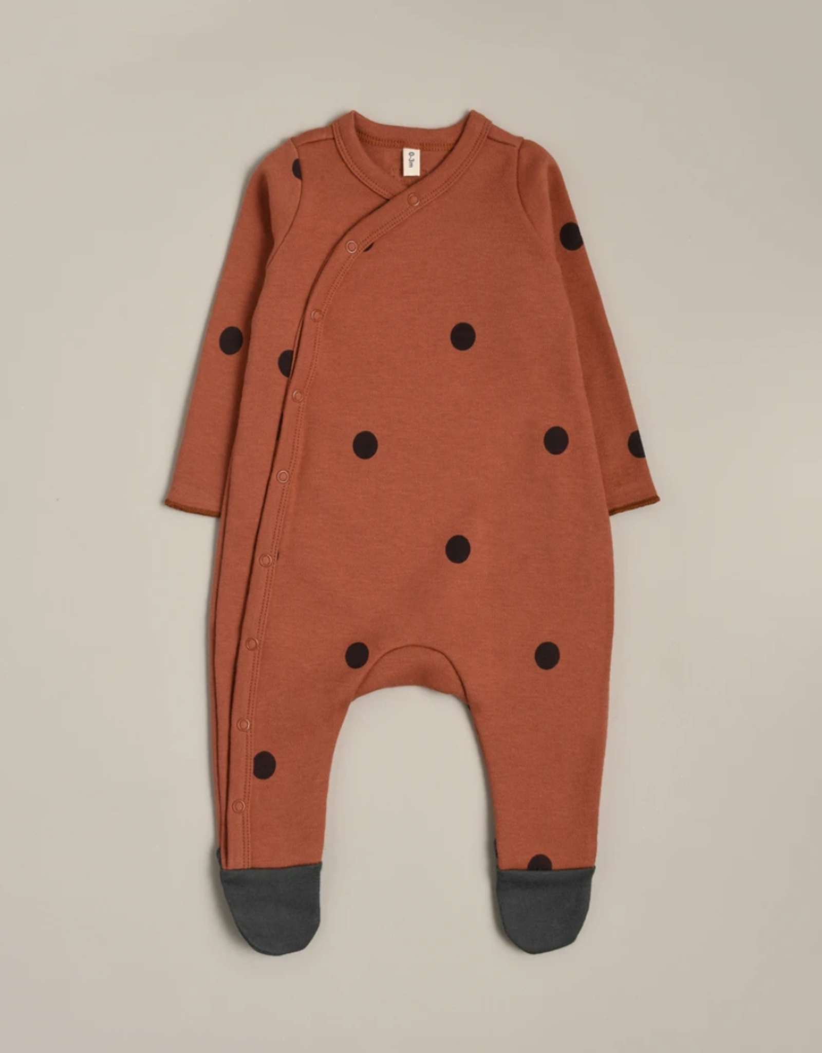 Organic Zoo Earth Dots Suit with contrast feet