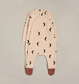 Organic Zoo Pyjama Pebble Midnight avec pieds contrastés