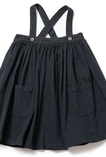 Bonton Bichette Velvet Skirt with Suspenders