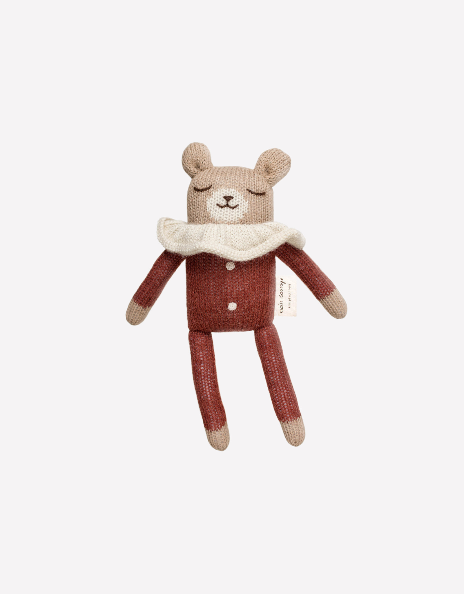 Main Sauvage Teddy Knit Toy