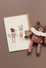 Main Sauvage Teddy and bunny Card