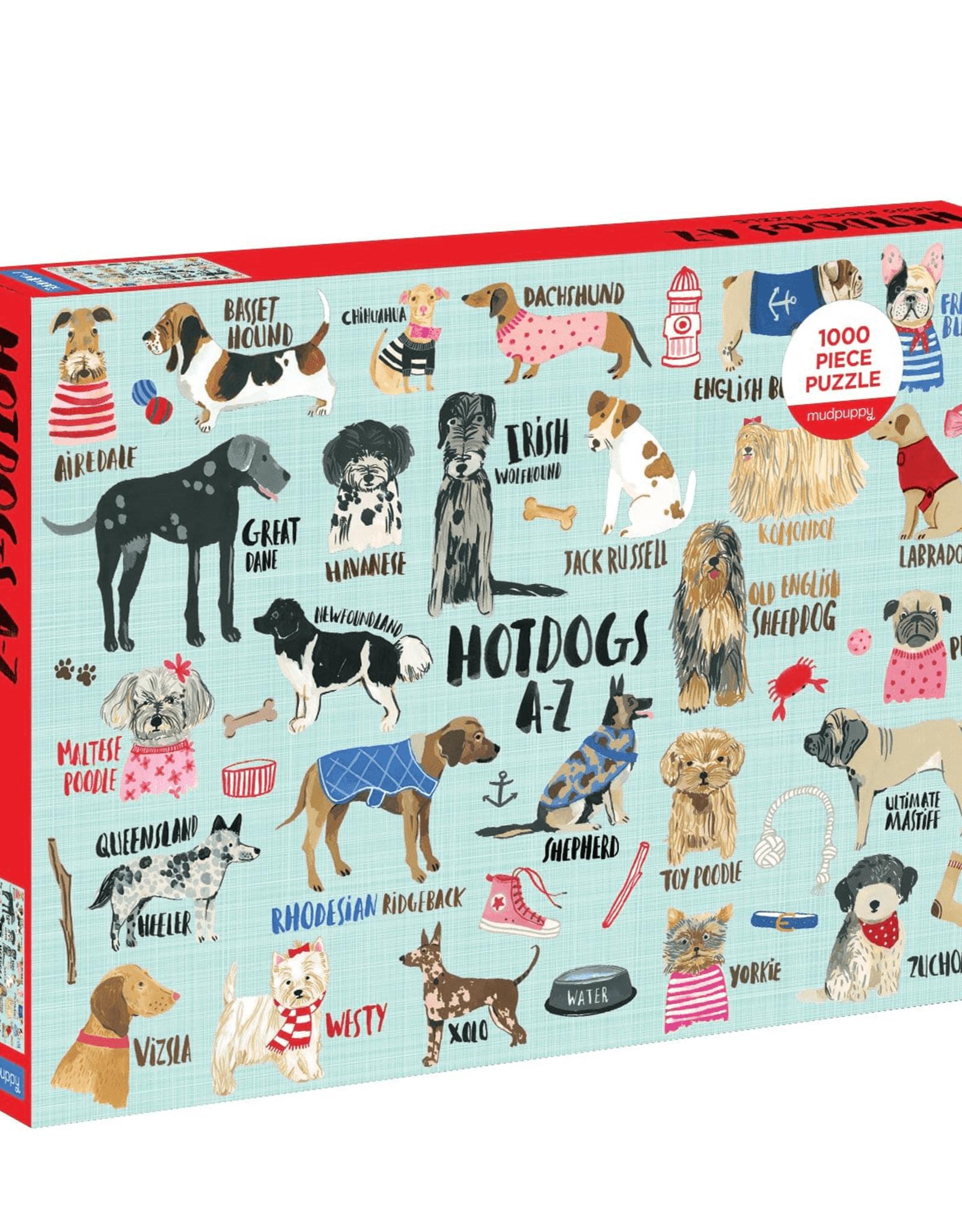 Mudpuppy Hot Dogs A-Z 1000 Piece Puzzle