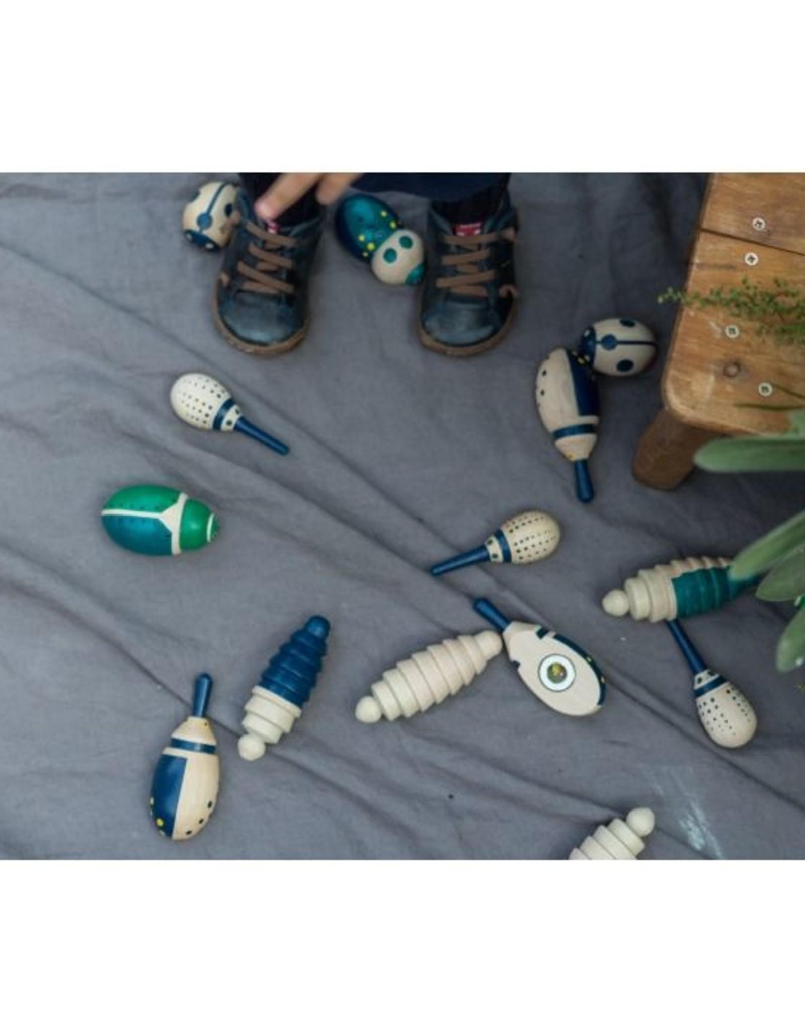 Eperfa Ensemble d'insectes en bois peint
