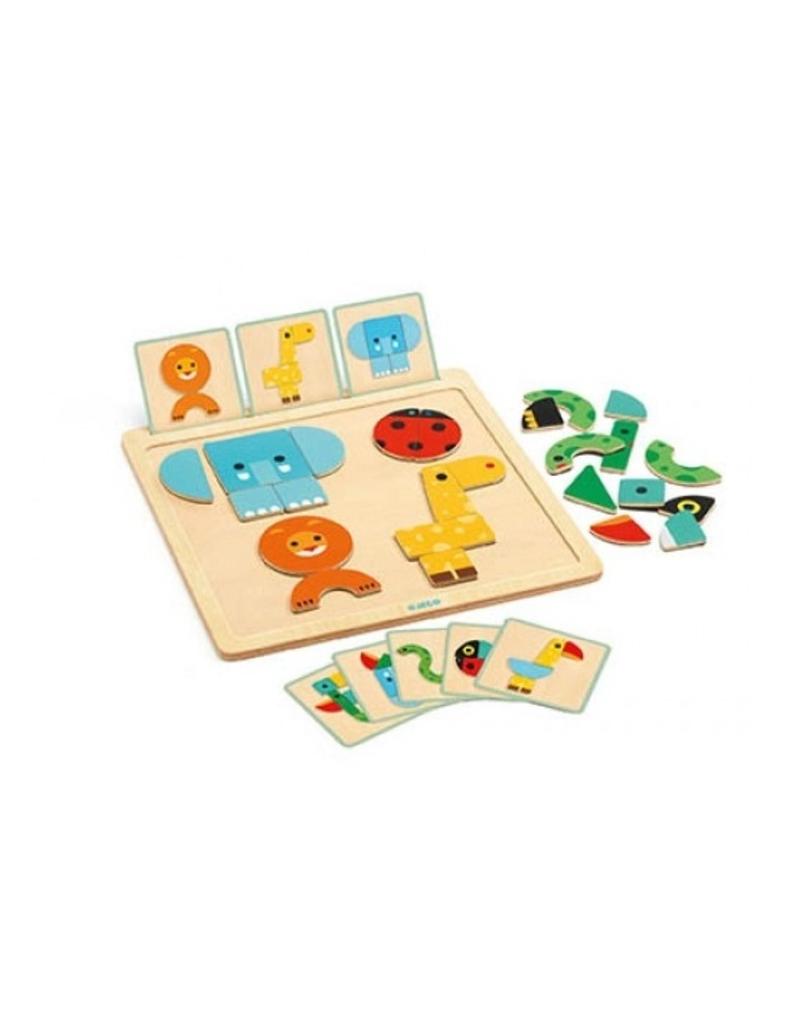 Djeco GeoBasic Magnetic game