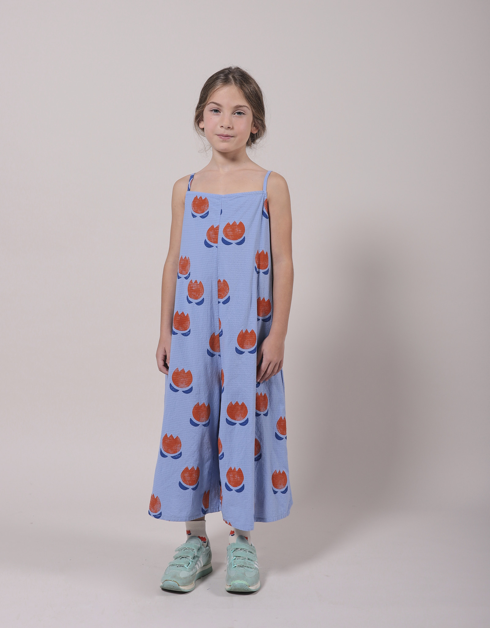 Chocolate Flowers Woven Overall