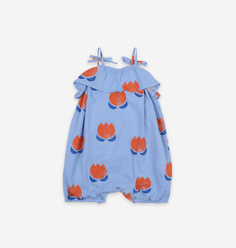 Bobo Choses Chocolate Flowers Woven Baby Romper