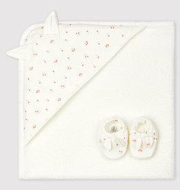 Petit Bateau Coffret Carré de bain et chaussons pour bébé