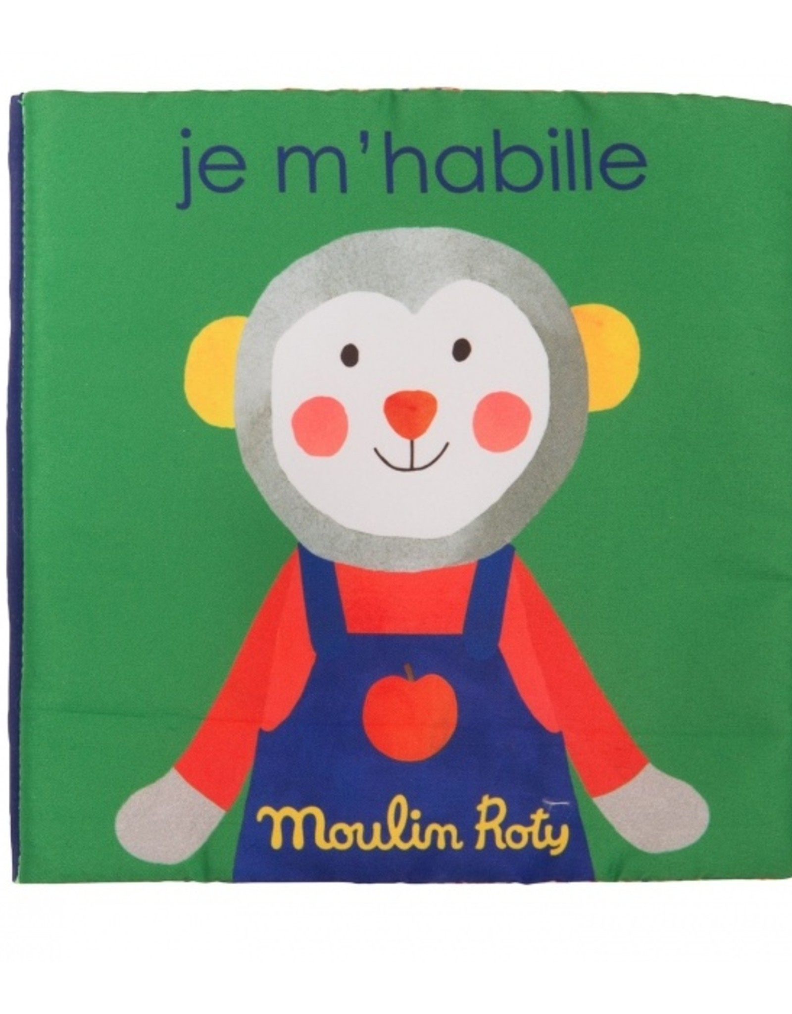 Moulin Roty Livre tissu Je m'habille