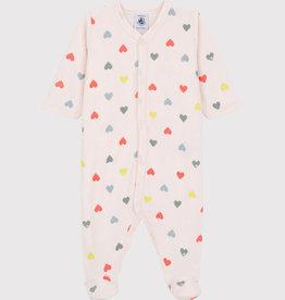 Petit Bateau Hearts Pajamas