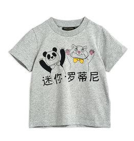 Mini Rodini T-shirt Cat And Panda