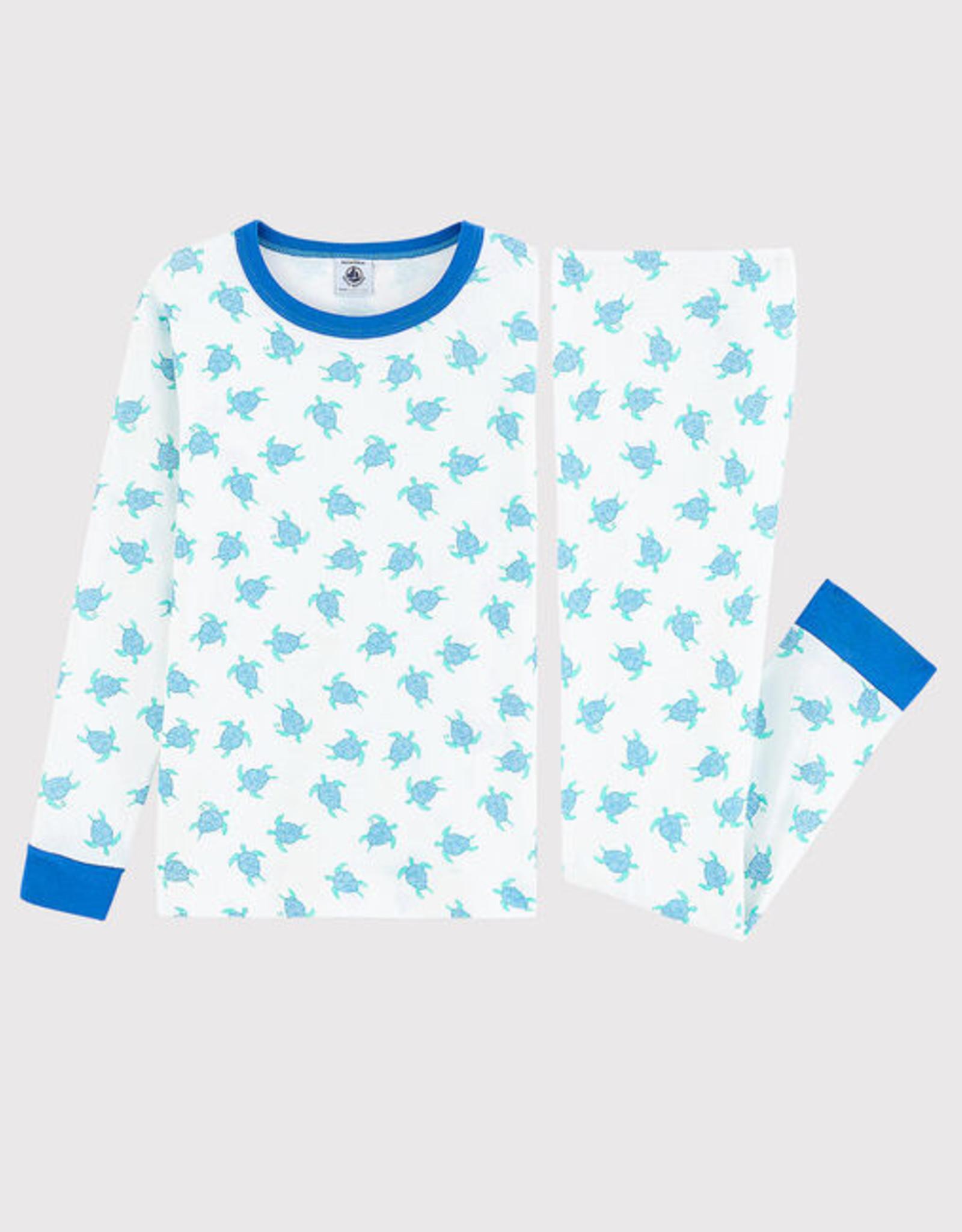 Petit Bateau Pajamas, turtle print