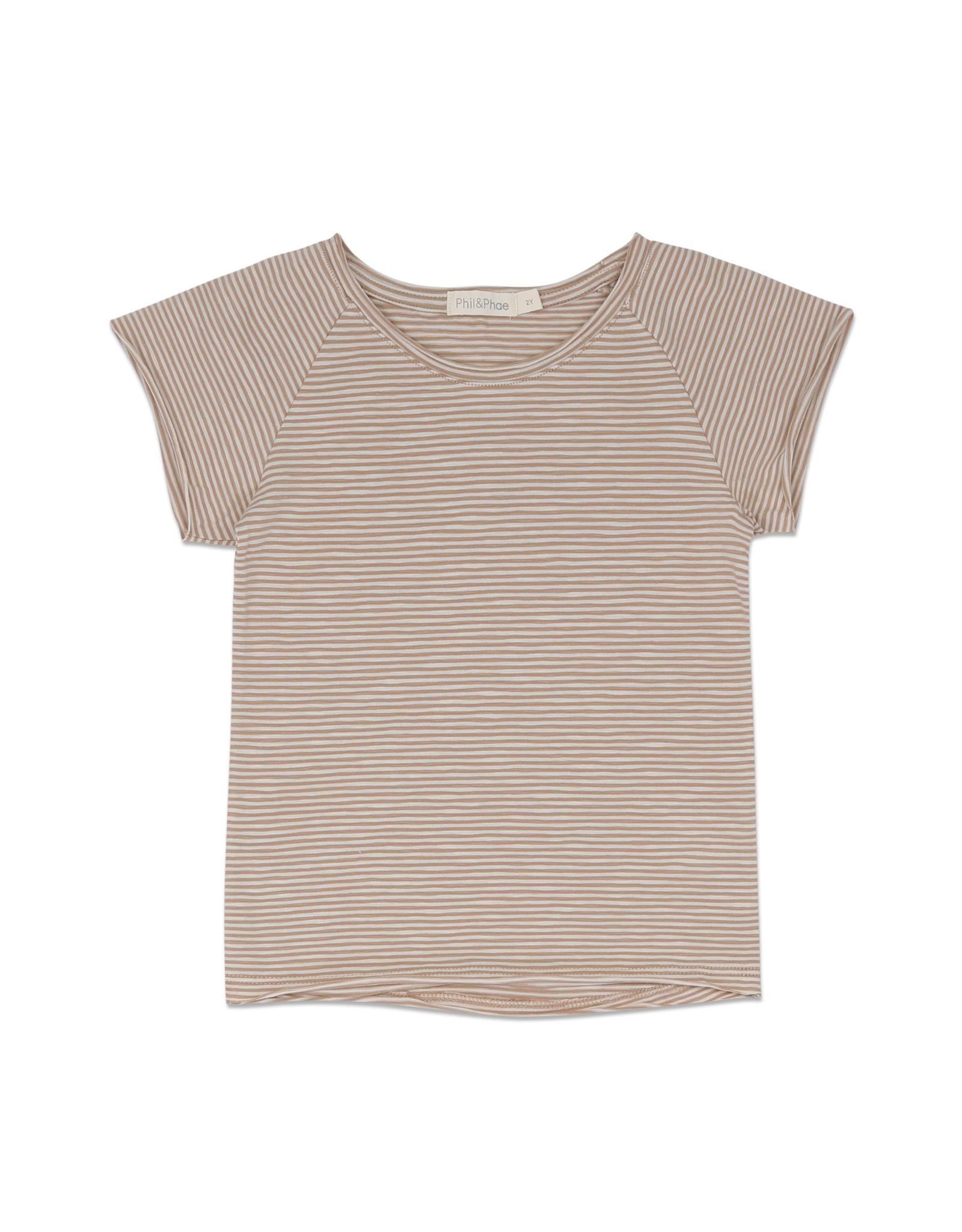 Phil & Phae T-shirt Raglan à rayures
