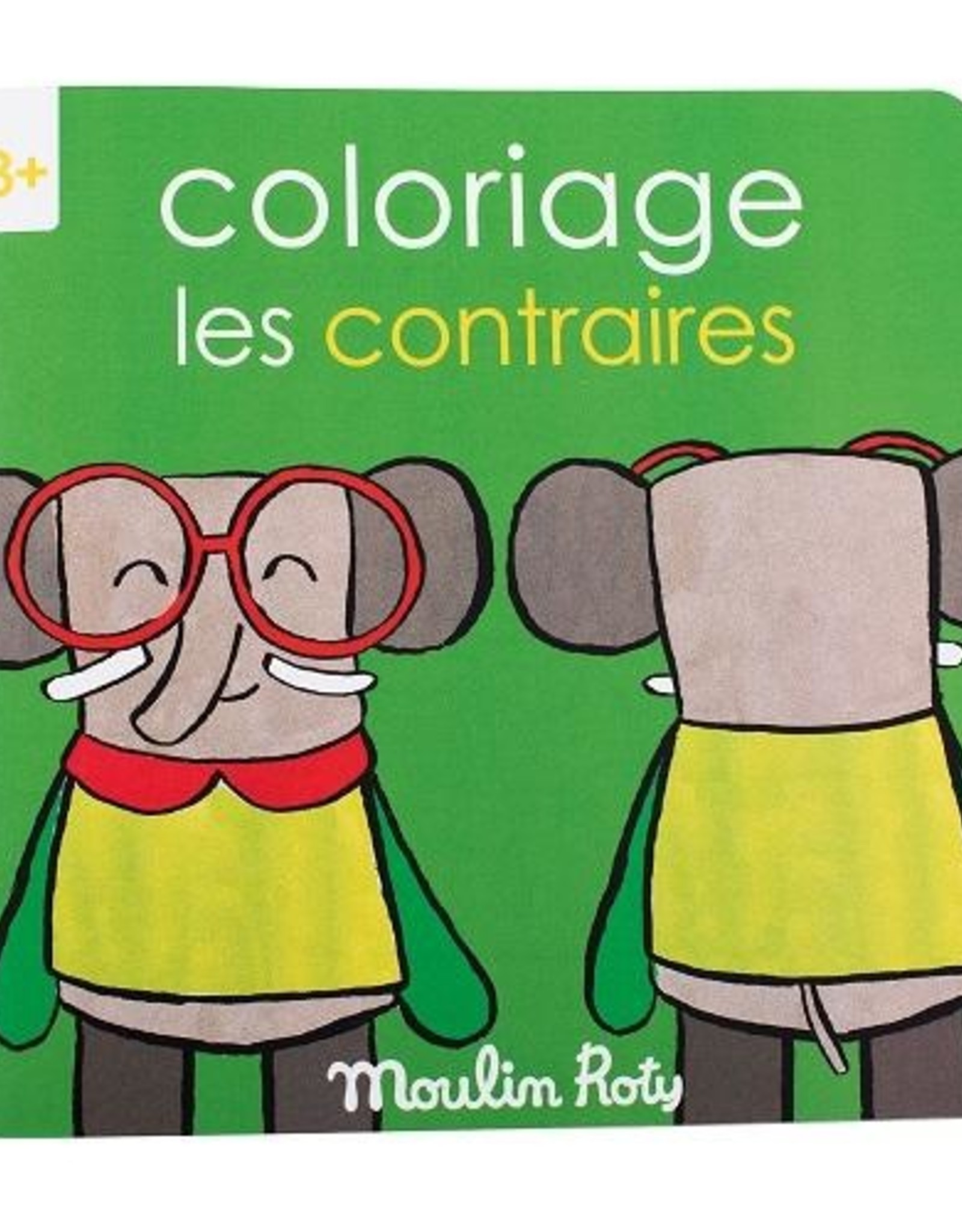 Moulin Roty Coloring Book Les Contraires