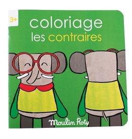 Moulin Roty Livre de Coloriage Les Contraires
