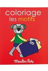 Moulin Roty Livre de Coloriage Les Motifs
