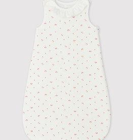 Petit Bateau Cherry Pattern Sleeping Bag with Little Collar