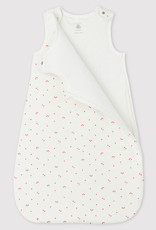 Petit Bateau Cherry Pattern Sleeping Bag with Little Collar