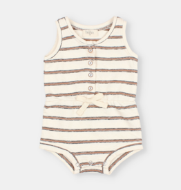 "Buho Jersey ""Navy Stripes"" Holiday Romper"