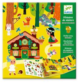 Djeco  Histoires de stickers – La forêt magique