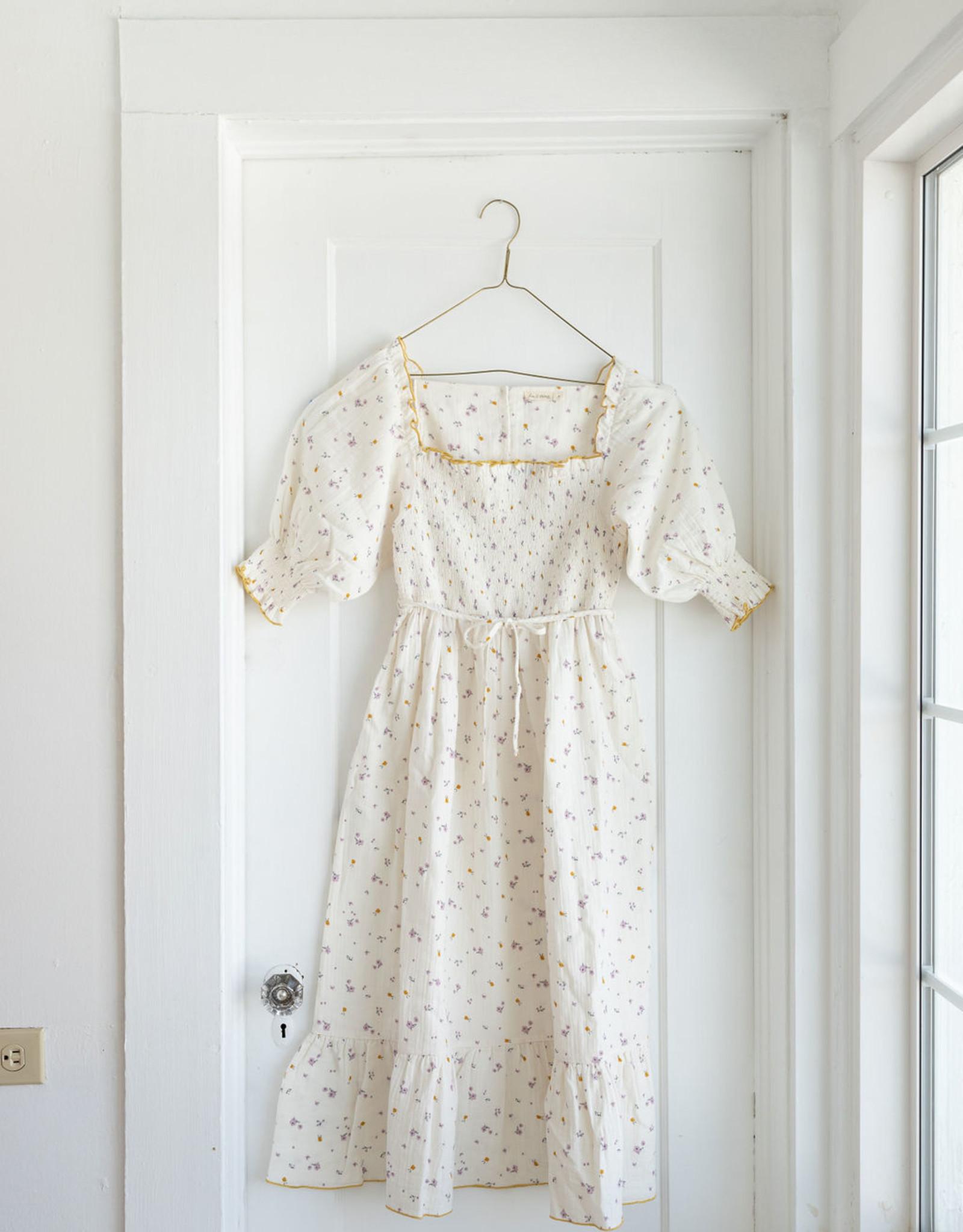 Fin & Vince Women's Smocked Dress, Lilac fields