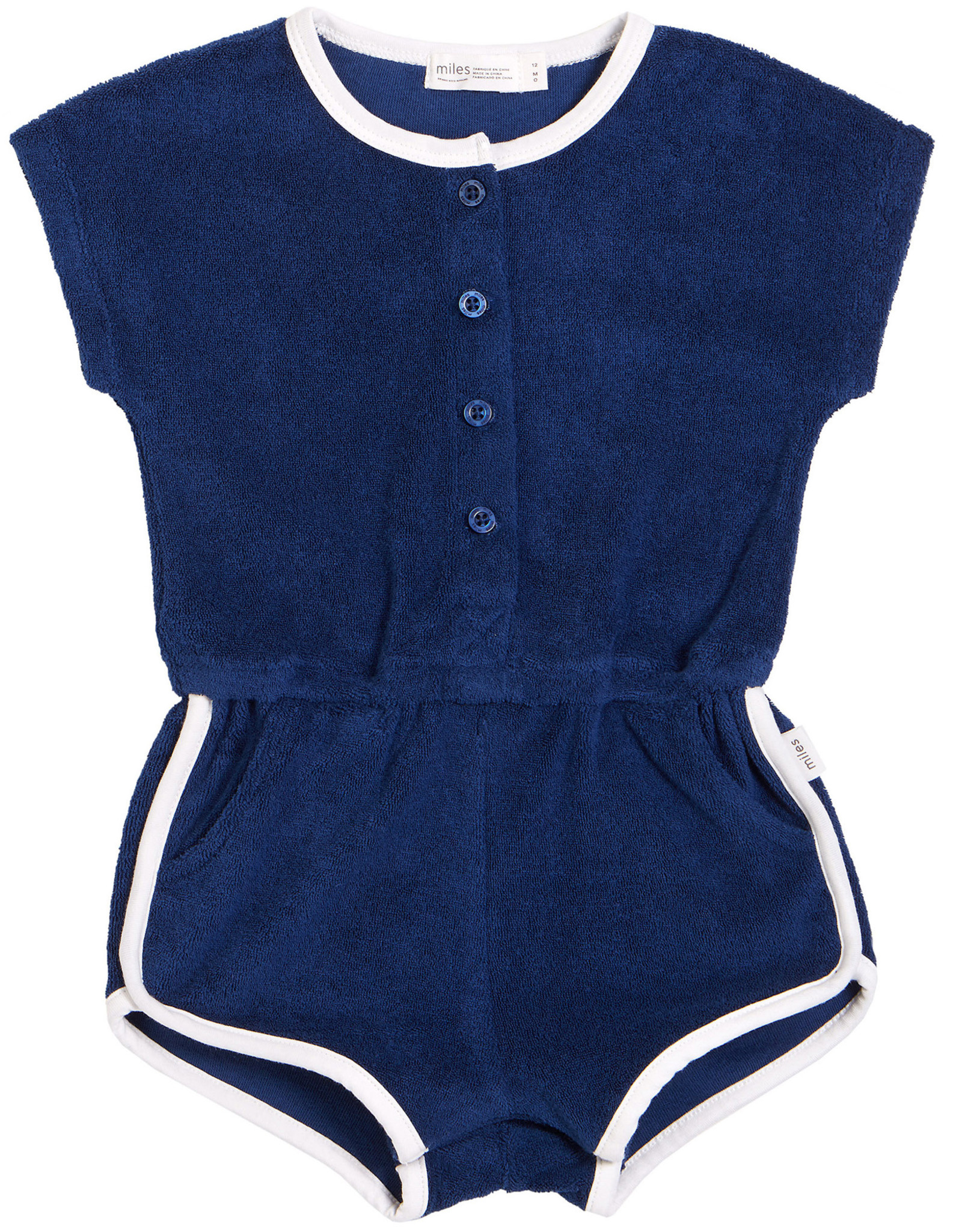 Miles Baby Terry Cloth Romper
