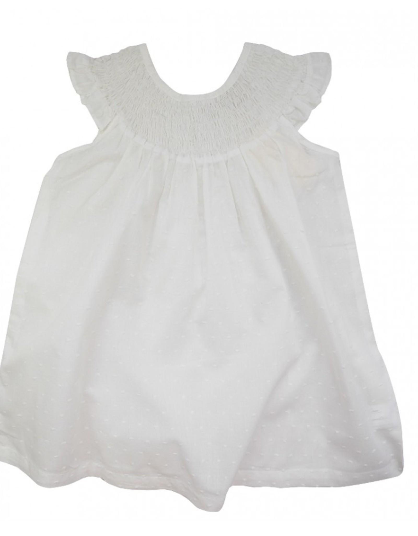 La Petite Collection Plumeti Gathered Dress
