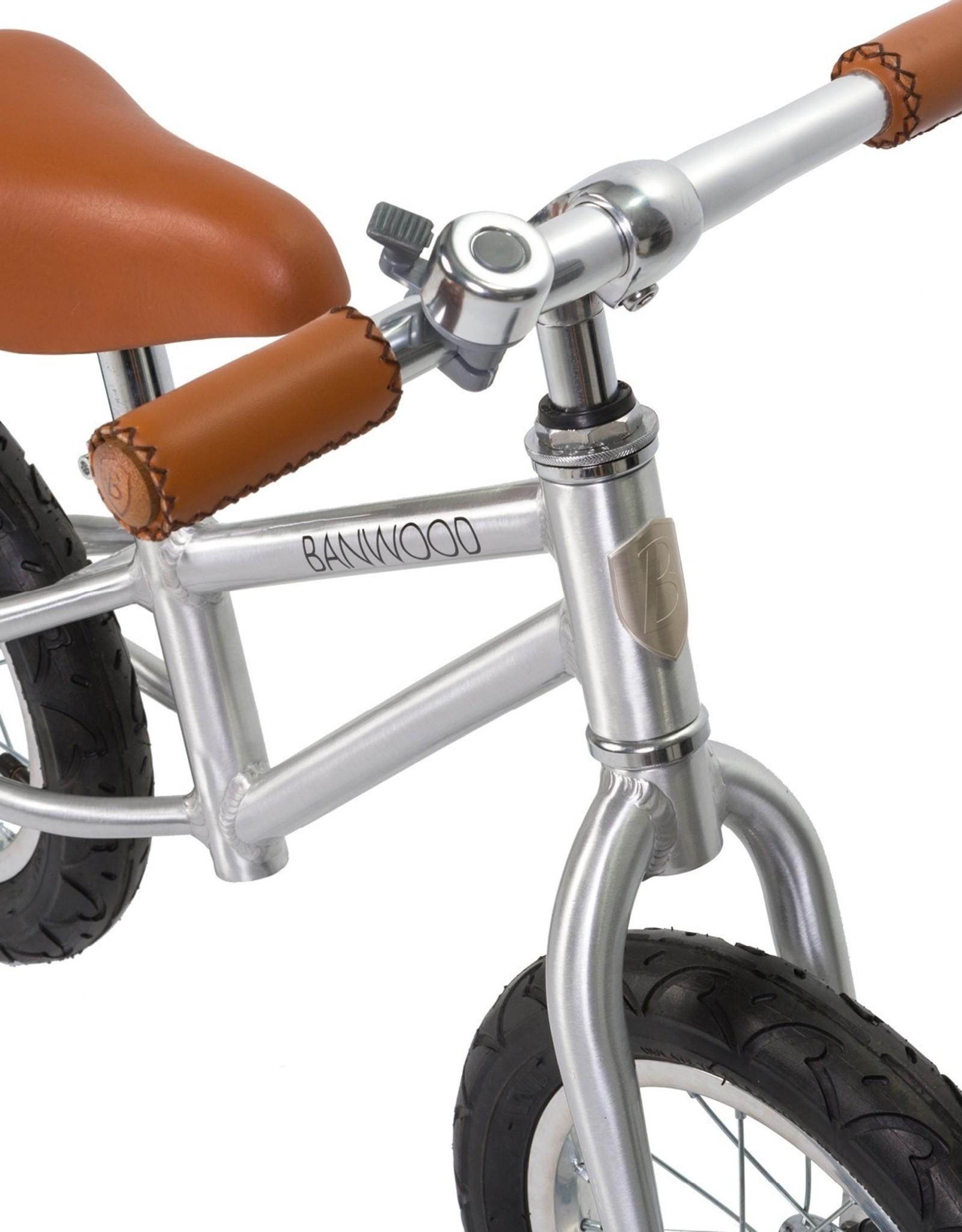Banwood Vélo d'équilibre First Go  - Édition Chrome