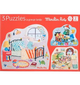 Moulin Roty 3 puzzles Set