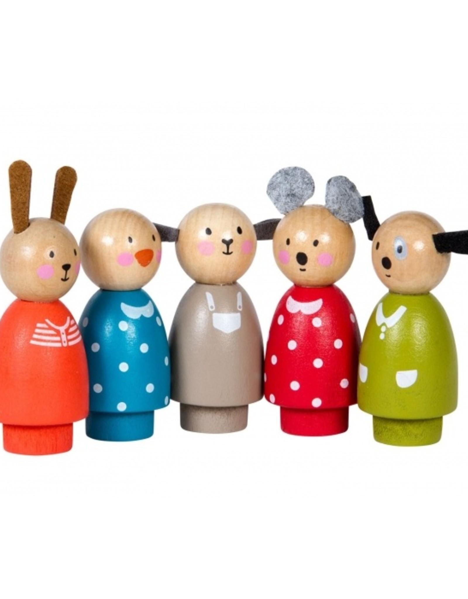 Moulin Roty Ensemble de 5 personnages