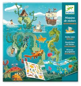Djeco Stickers Story Reusable - Les aventures en mer