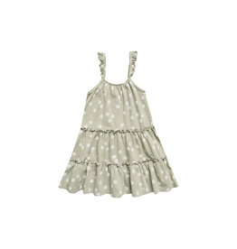 Rylee and Cru Daisy confetti tiered jersey dress