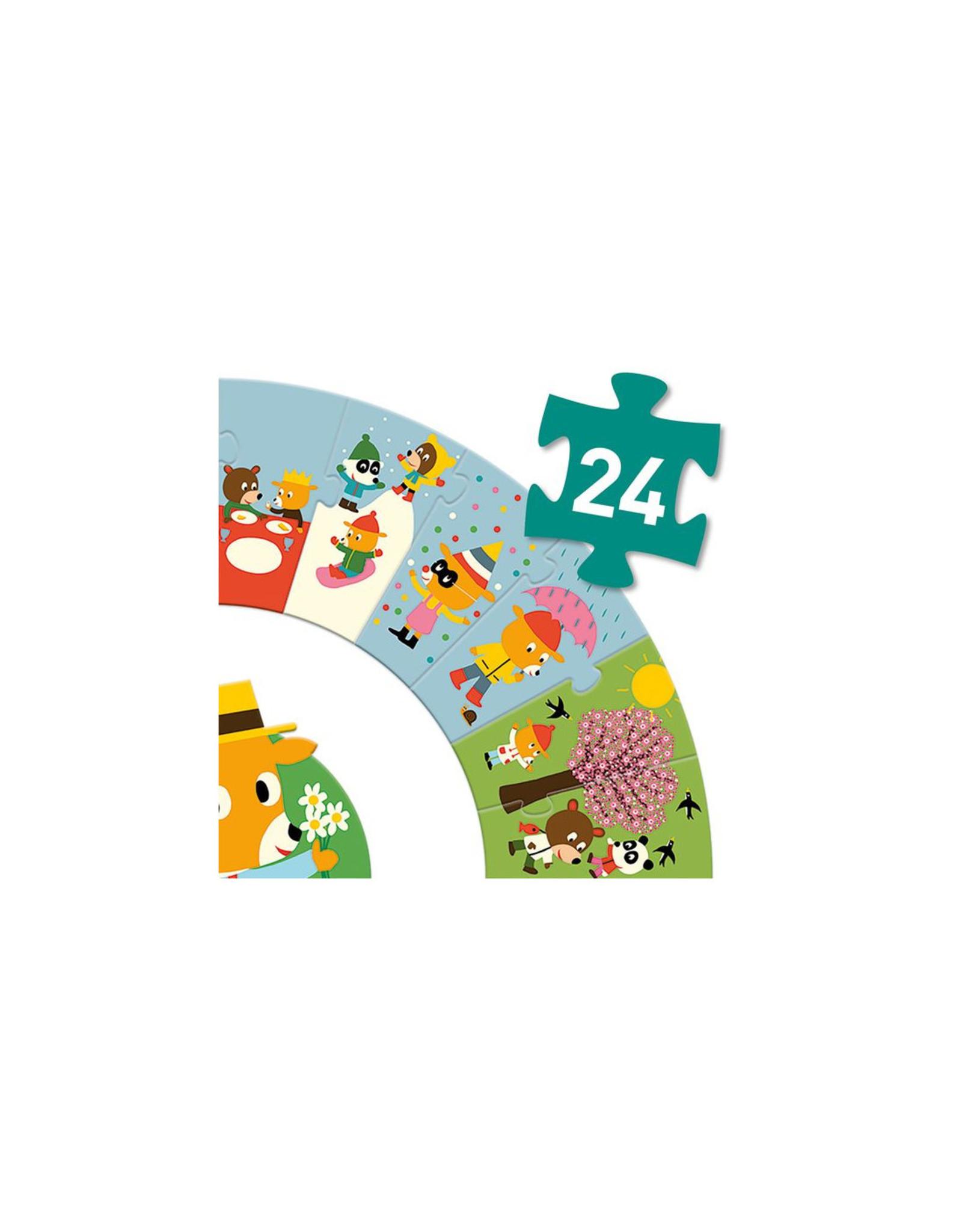 Djeco Puzzle géant L'année