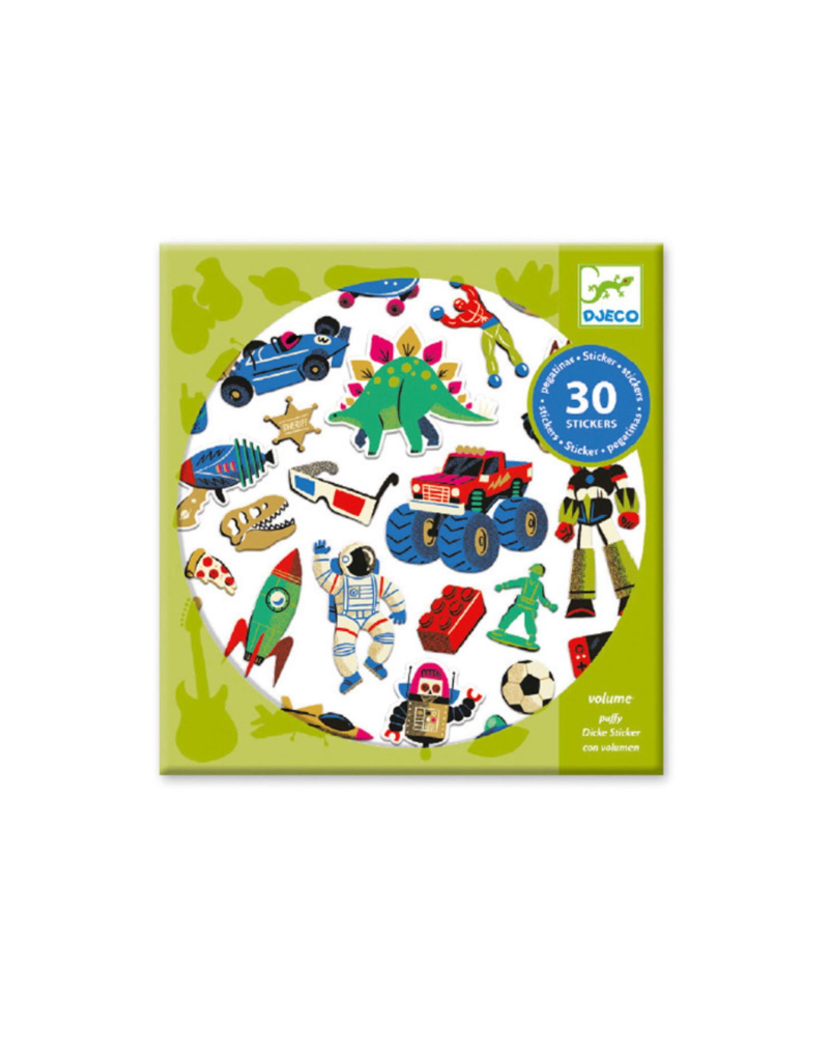 Djeco Retro Toys Stickers