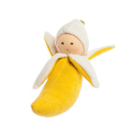 Nanchen Natur Terry Baby Rattle  Banana