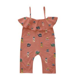Oeuf Punch Ruffle Neck Overall