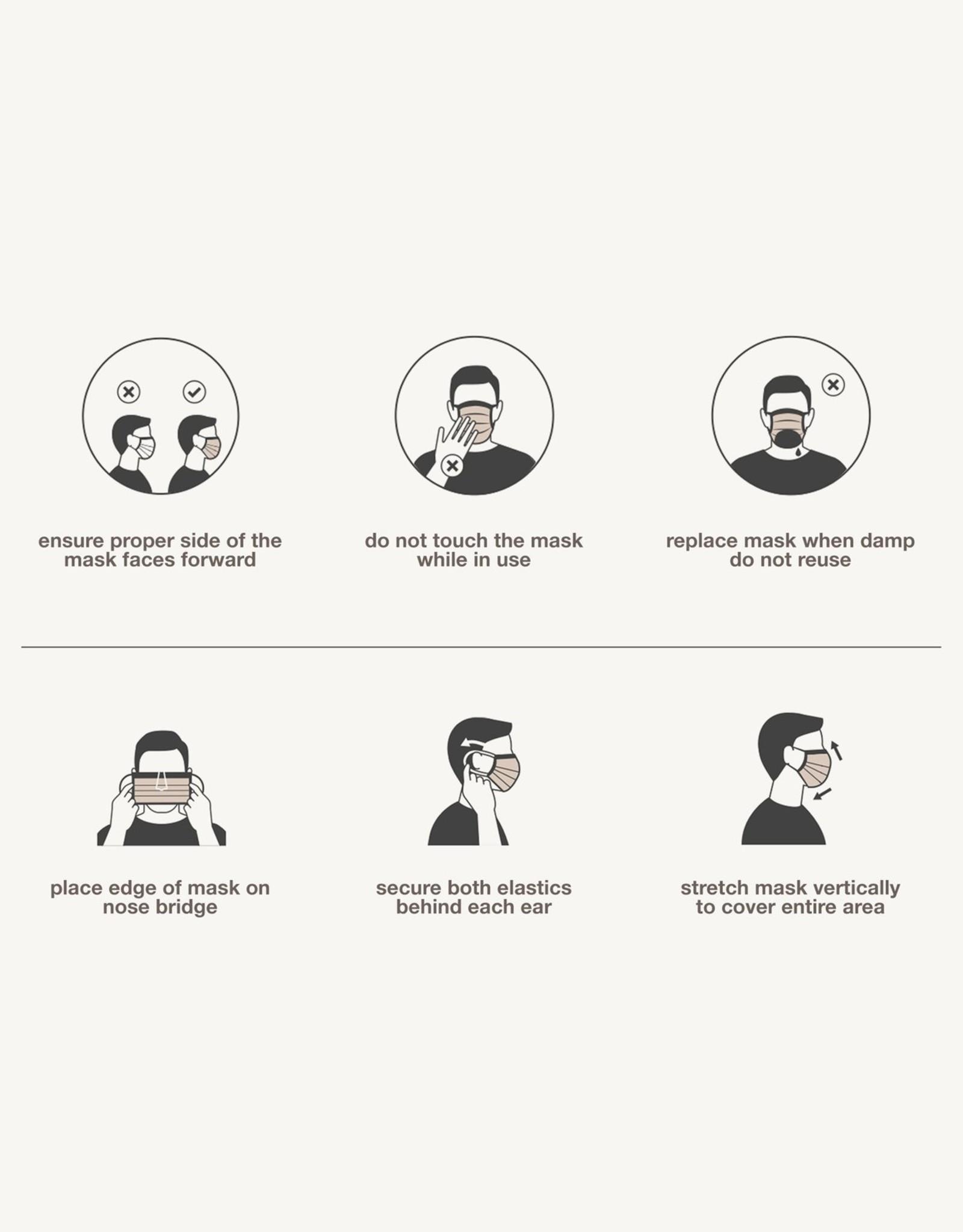 Evolvetogether Paquet de 7 masques pour adulte