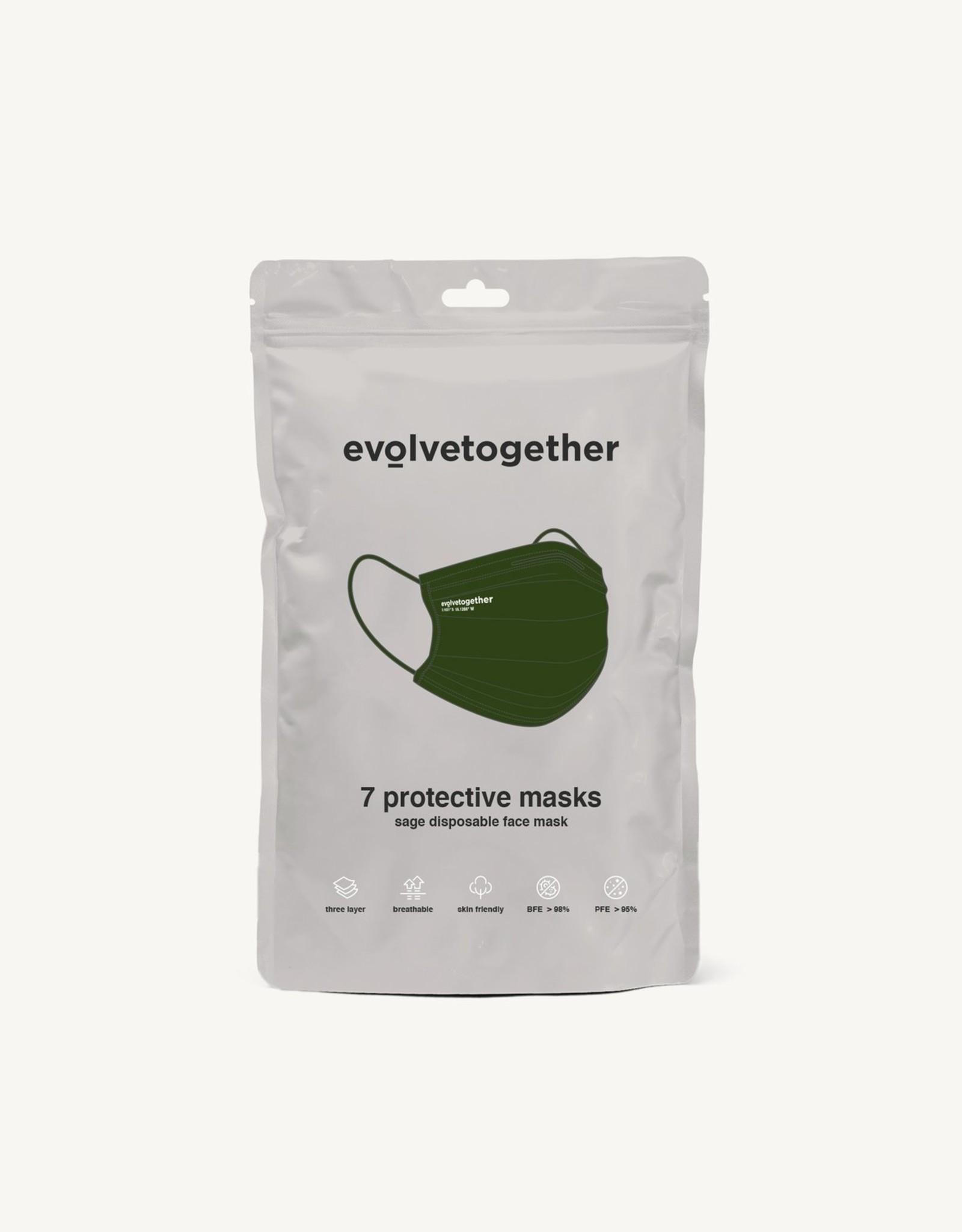Evolvetogether Set of 7 adult face masks