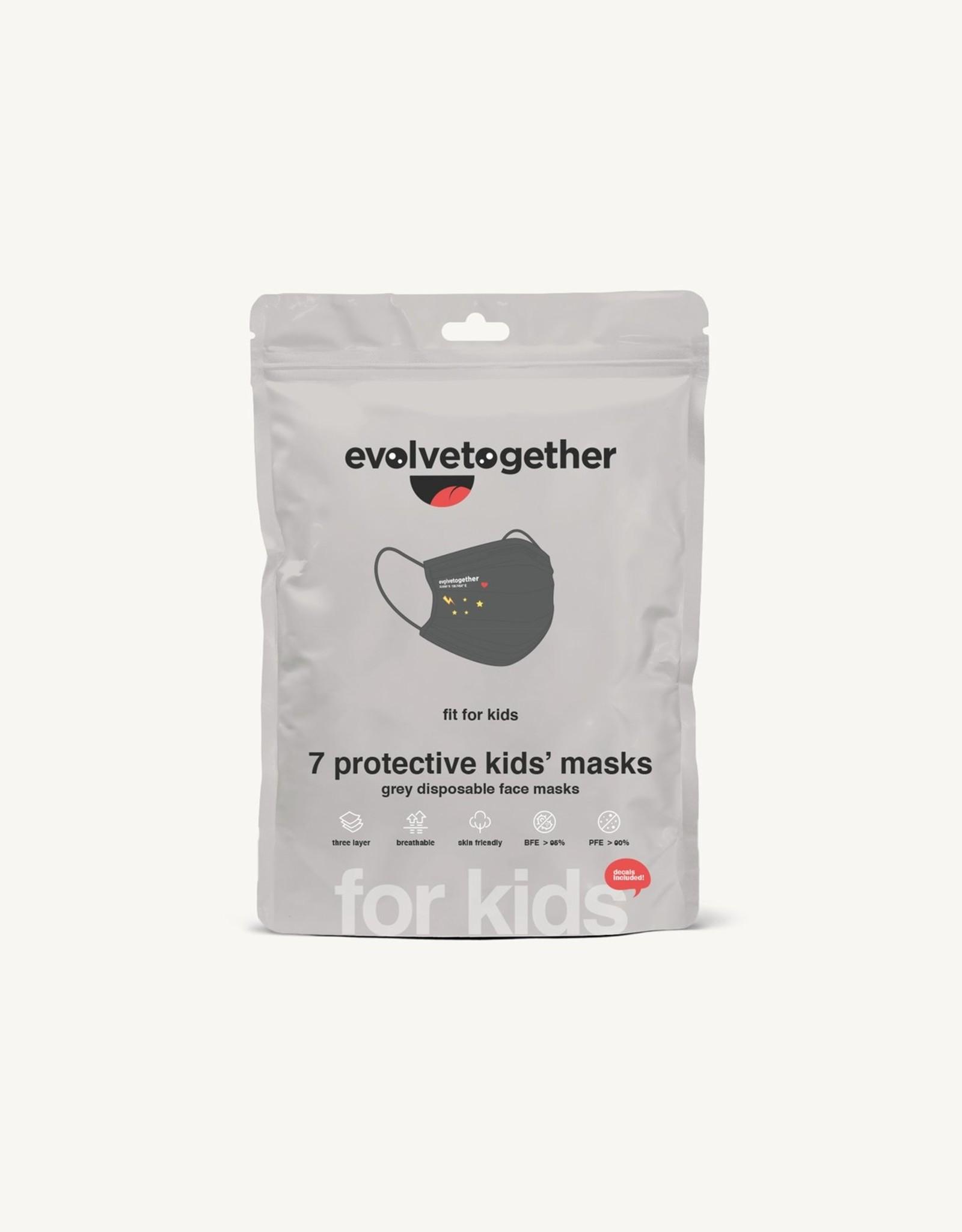 Evolvetogether Set of 7 kids face masks