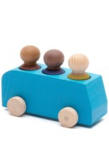 Lubulona  Blue Bus with 3 figures