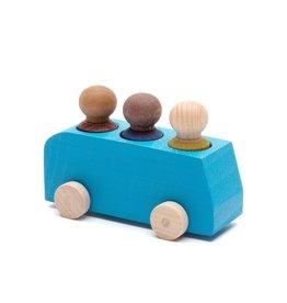 Lubulona Autobus bleu avec 3 figurines