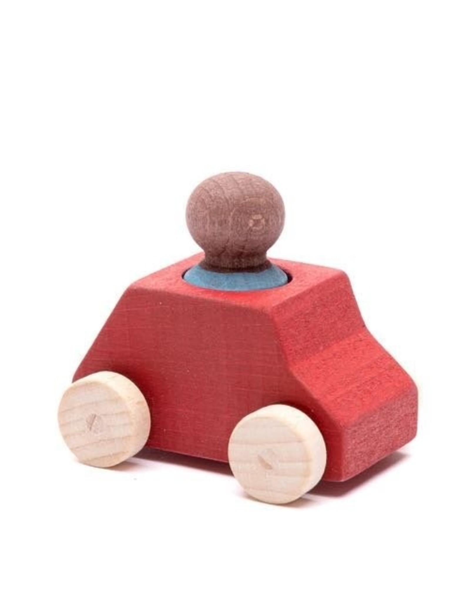 Lubulona  Red Wooden Toy Car