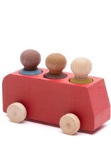 Lubulona  Red Bus with 3 figures