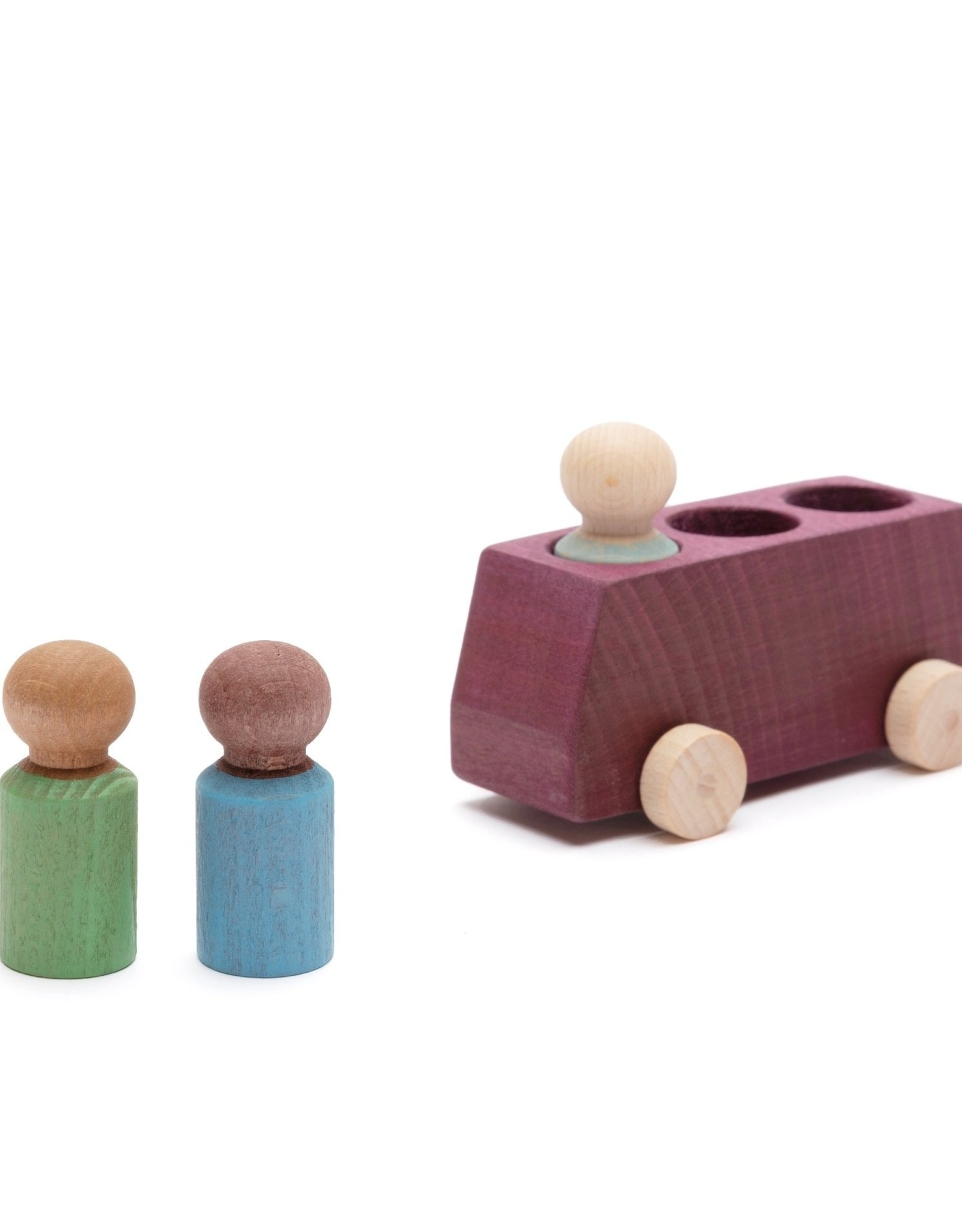 Lubulona  Autobus prune avec 3 figurines