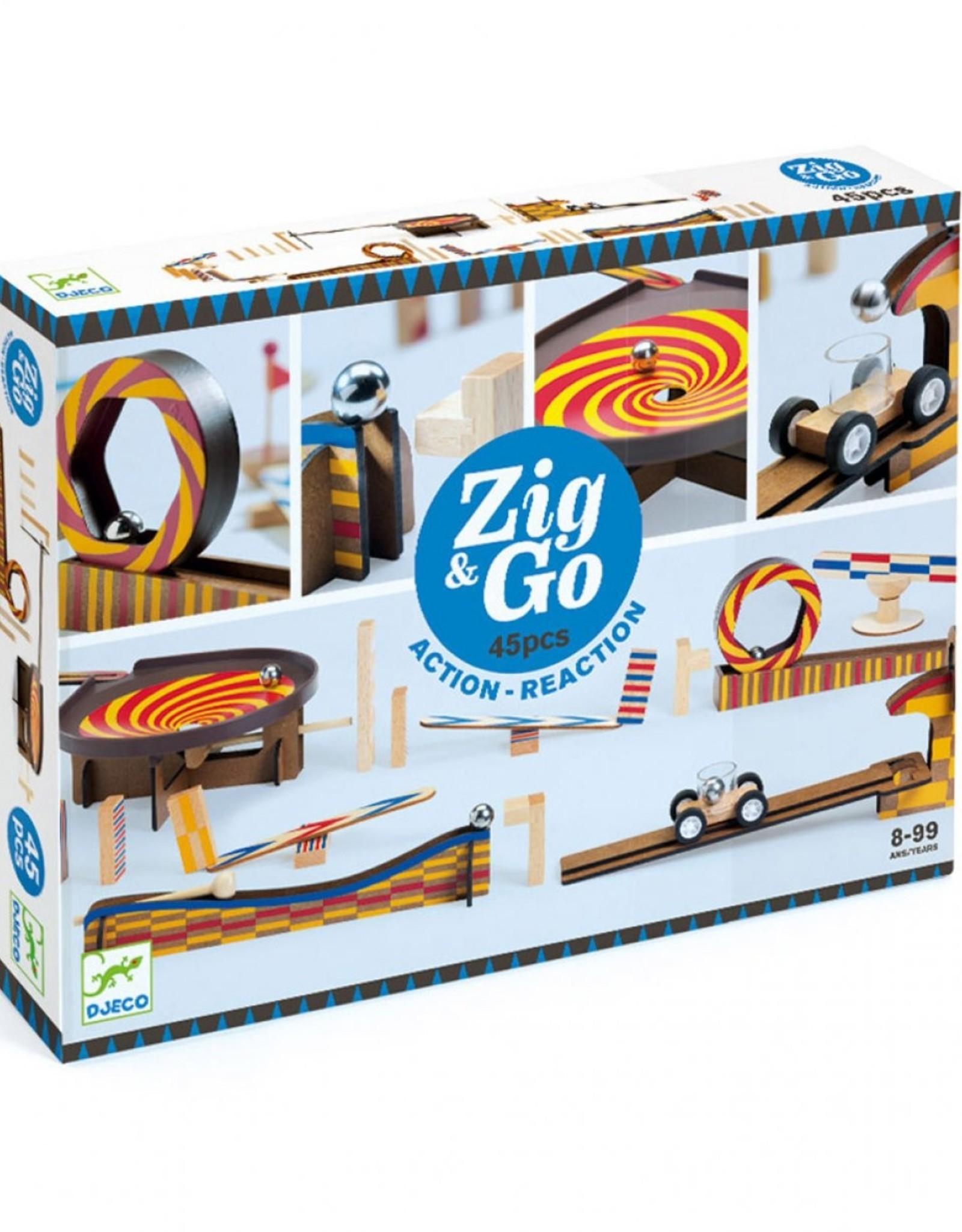 Djeco Jeu de construction Zig & Go Wroom