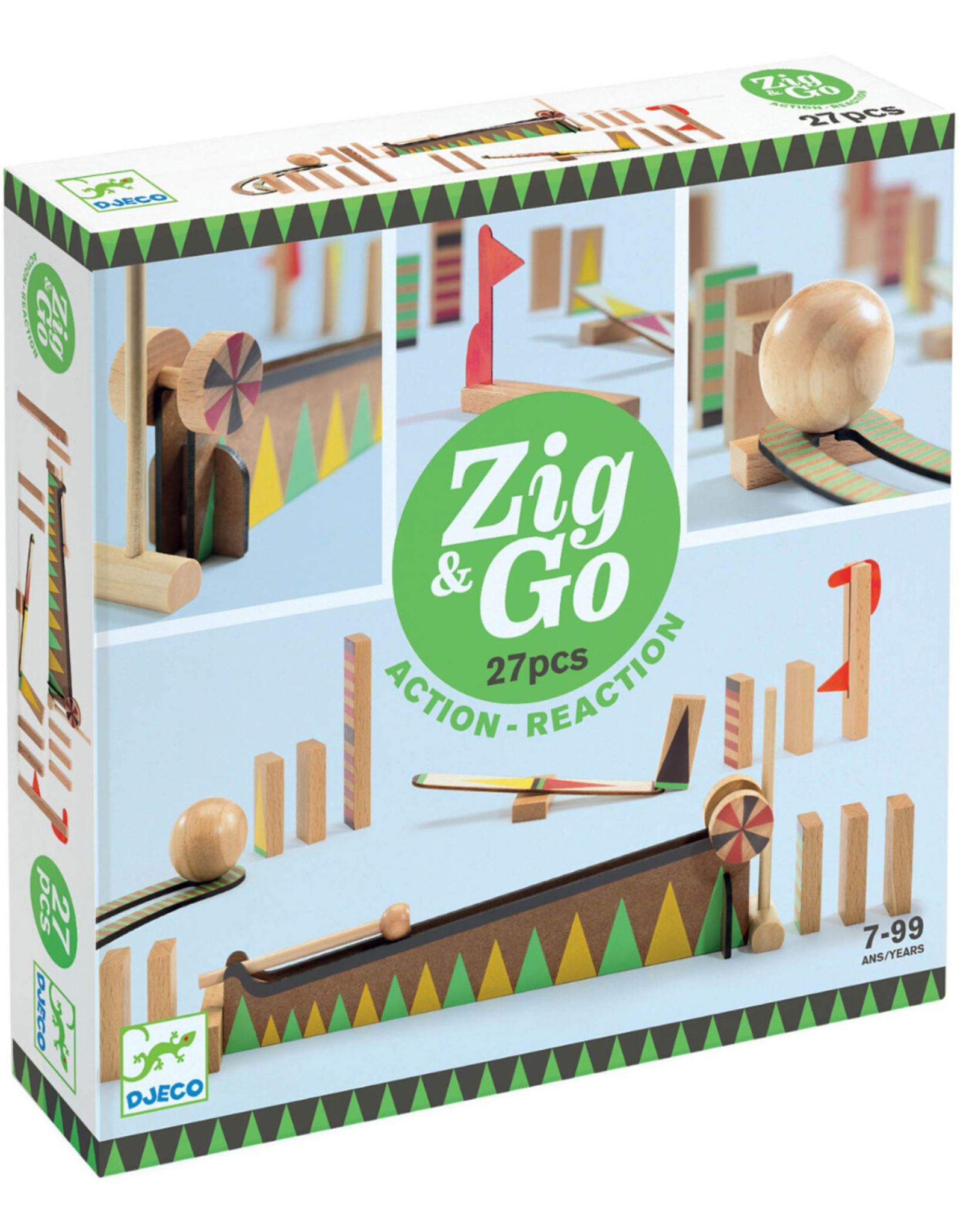 Djeco Jeu de réaction en chaîne Zig & Go