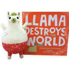 MerryMakers Llama Destroys the World - Livre et Peluche