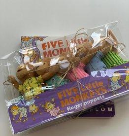 MerryMakers Marionnettes à doigts et livre Cinq petits singes