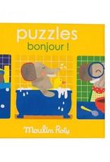 Moulin Roty Ensemble de 3 casse-têtes Bonjour !