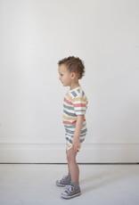 Fin & Vince Vintage Track Shorts - Rainbow stripe