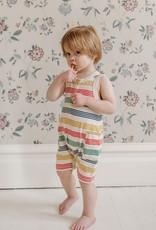 Fin & Vince Short Jumpsuit - Rainbow stripe